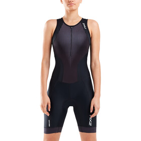 2XU Perform Combinaison avec avec zip frontal Femme, black/shadow